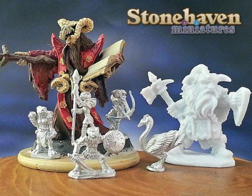W3: Stonehaven Miniatures' Grippli :: Finally, Actual Grippli Minis