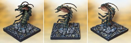 Show Off :: Ankheg with Metallic Chitin on Flagstone Base
